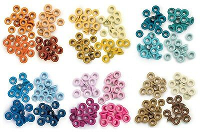 We R Memory Keepers - Standard Eyelets - Orange, Yellow, Aqua, Blue, Pink & Brow