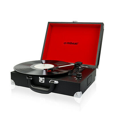 Refurbished mbeat Retro Briefcase Style USB 60's Suitcase Vinyl Record Player