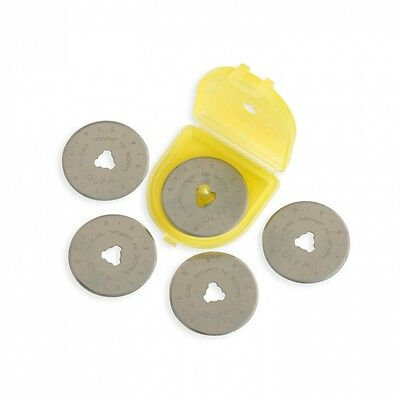 Olfa 28mm Rotary Blade Refill- 5 per Package. Delivery is Free