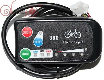36/48V 3-speed PAS LED Control Panel/Display Meter-880 for Electric Bicycle