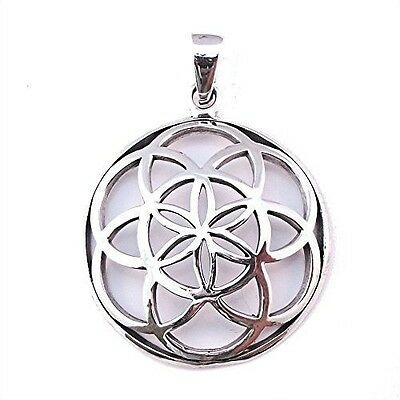 Solid Sterling Silver Seed of Life Flower Fruit Pendant Sacred Geometry P006. Fr