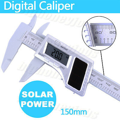 "150mm 6"" LCD Digital Vernier Caliper Electronic Gauge Micrometer Measuring Tool"
