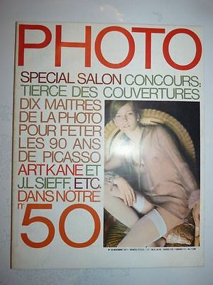 PHOTO FRENCH MAGAZINE #50 novembre 1971 10 maitres de la photo