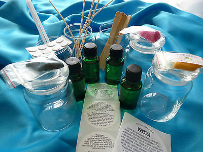Candle making 6 x Apothecary Jar 142gm Kit. Plus all you need READ description.