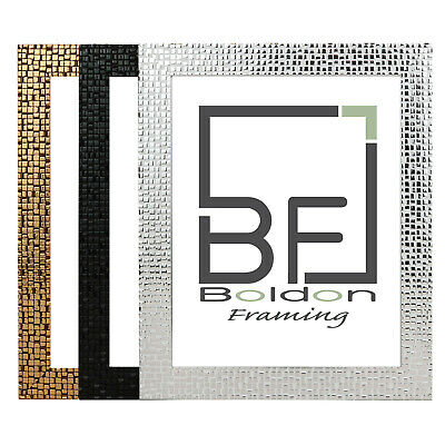 Modern Glitzy Picture Photo Poster Frame Black Silver Bronze MADE IN THE UK