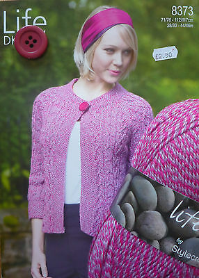 Ladies DK One Button Cabled Cardigan Knitting Kit