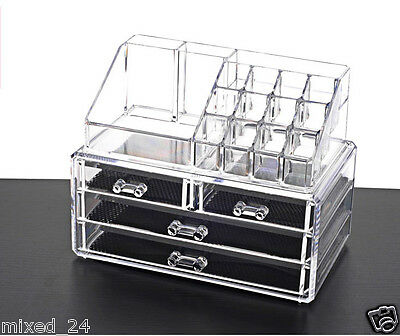 lifewit acryl lippenstift organizer 24 speicherraum lippenstiftetui kosmetik eur 17 99. Black Bedroom Furniture Sets. Home Design Ideas