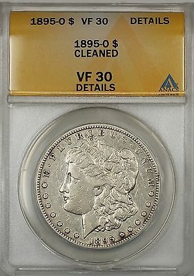1895-O Morgan Silver Dollar $1 Coin ANACS VF-30 Details Cleaned (5)