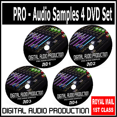 Audio Samples Music Drum Loops DJ Sound Effects Instrument Effects 30,000+ 4 DVD