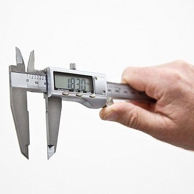 6 inch Digital Vernier Caliper 150mm Micrometer Gauge Stainless Steel Tool