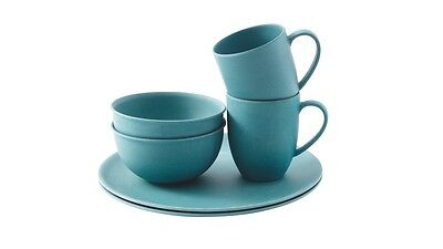 Outwell Bamboo Dinner Set 2 person Blue