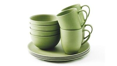 Outwell Bamboo Dinner Set 4 person Green