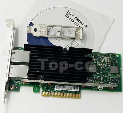 Intel X540 -T2 10G Dual RJ45 Ports PCIe x8 Ethernet Converged Network Adapter