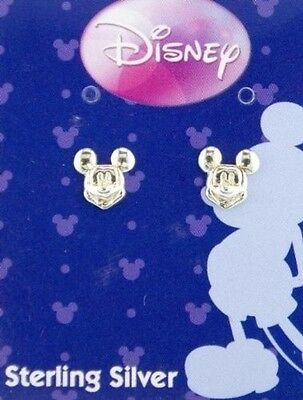 Disney Mickey Mouse Sterling Silver Stud Earrings Jewellery. Shipping Included