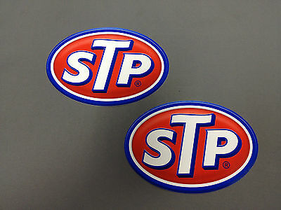 """6 x Official STP Racing / Car / Man Cave Decals - 4"""" Tall x 5.75"""" Wide"""