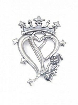 Sterling Silver Luckenbooth and Thistle Brooch. Brand New