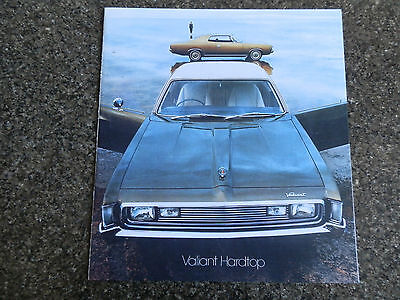 Chrysler Valiant Hard Top 1972 Vh  Sales Brochure.  100% Guarantee.