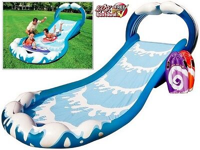 Inflatable Slide Kids Water Commercial Pool Park Play Center Splash Pool Summer