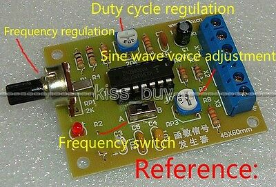DC 12V ICL8038 Function Signal Generator Module Square Triangle Sine Wave Output