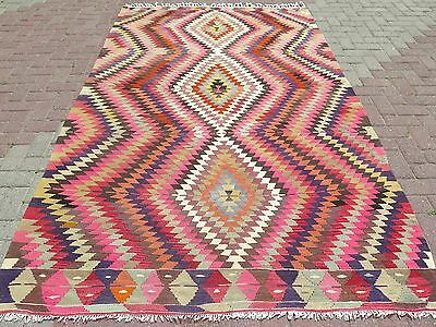 "Antique Turkish Wool Rugs,Classic Design Rug 66,9""x108,6"" Area Rugs,Kelim,Carpet"