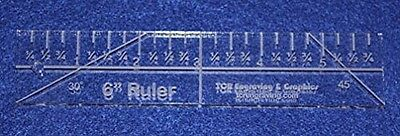 15cm Ruler - 0.6cm thick. Quilting/Sewing Clear Acrylic - Quilting/sewing. Free