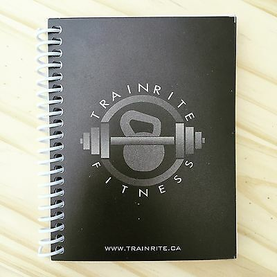 TrainRite Compact Fitness Journal - Black (Workout Log Book)
