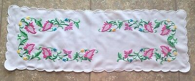 Hungarian hand embroidered floral table runner from Hungary