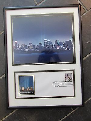 9/11 REMEMBERING THE HEROS OF 2001 FIRST DAY ISSUE Framed STAMP PHOTOGRAPH USPS