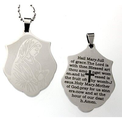 Hail Mary Prayer Pendant Necklace. Free Delivery
