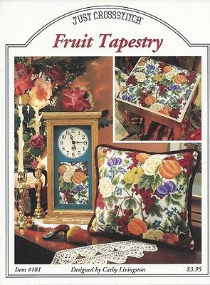 FRUIT TAPESTRY COUNTED CROSS STITCH PATTERN. Huge Saving