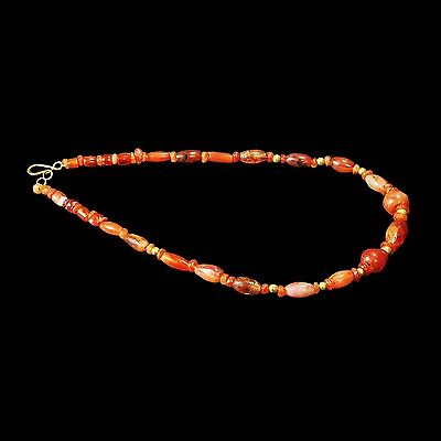 Aphrodite- Ancient Near Eastern Carnelien Beads Necklace