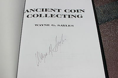 Ancient coin collecting (V.1), by Wayne G. Sayles, signed by the author