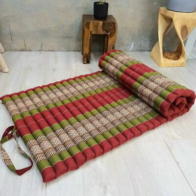 Jumbo Size 100% Kapok Thai Roll Up Mat Fold Mattress Cushion Day Bed Yoga Mat