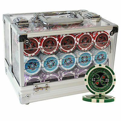600 14G Ultimate Clay Poker Chips Set Acrylic Case Custom Build