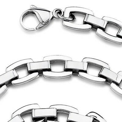Heavy Duty Double Link Mens Stainless Steel Necklace. Shipping Included