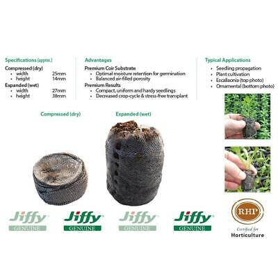 25mm Jiffy-7 Coir Pellets. For seed & cutting propagation. Range of pack sizes.