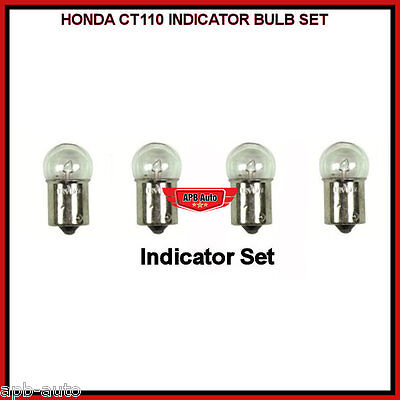 Honda Ct110 110 Ct90 Postie Bike Indicator Bulb Complete Indicator Bulbs Set