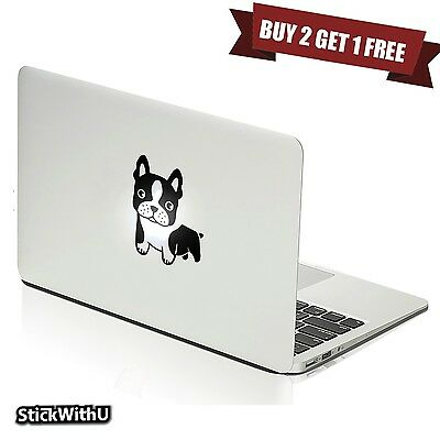 Macbook Air Pro Vinyl Skin Sticker Decal Cute French Bull Dog Puppy Pet m378