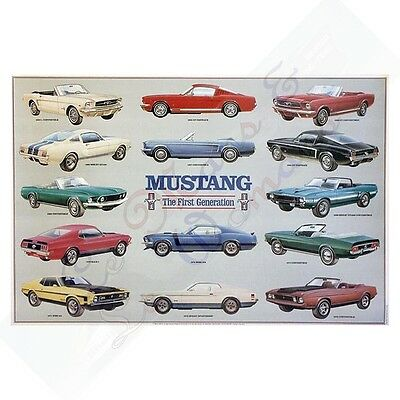 Historic First Generation Ford Mustang Poster