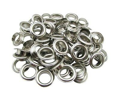Amanaote 13.5mm Internal Hole Diameter Silvery Eyelets Grommets with Washer Self