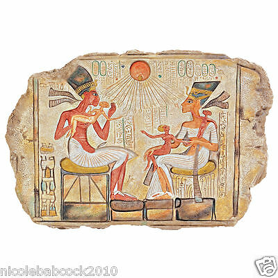 Ancient Egyptian Royal Family Carved Tablet Called Stele Sculptural Wall Art • CAD $69.08