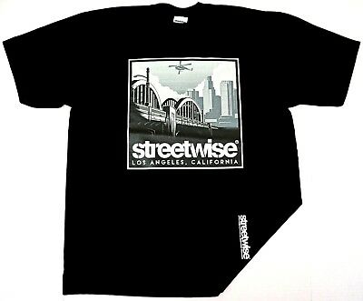 e402b4b7d91 STREETWISE T-SHIRT STREET Wise Gear Los Angeles Tee Adult Men Navy ...