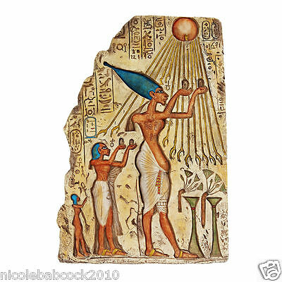 Ancient Egyptian Sending Offerings To The Sun God Sculptural Wall Replica Cairo