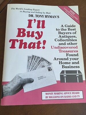 Vintage I'll Buy That Antiques Dr. H A Hyman's Soft Cover Book 1991