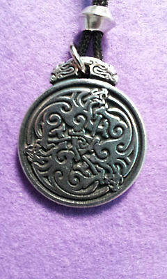 Triple Celtic Dragons- Talisman wiccan pagan occult Amulet