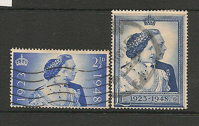 Great Britain 1948 Royal Silver Wedding Set Fine Used