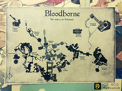 Bloodborne Map Home Decor Poster Wall Mural Paintings 29.7cm*42cm