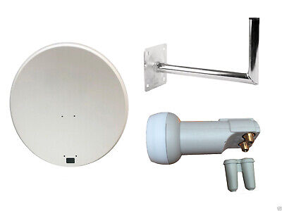 80 Cm Satellite Dish With Wall Mount & Twin LNB