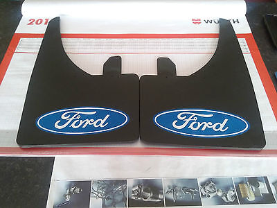 Universal Mudflaps Front Rear Ford Logo Focus Fiesta Mondeo  Mud Flap Guard NEW