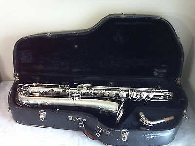 VINTAGE 1932-33 The BUESCHER NEW ASRISTOCRAT True Tone Low Pitch Baritone Sax US